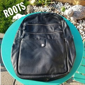 Roots Genuine Leather Backpack.